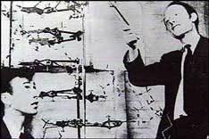 Крик демонстрирует Уотсону модель ДНК