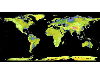 Карта, полученная аппаратом Terra. Фото NASA/JPL