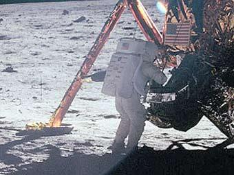 Нил Армстронг на Луне. Архивное фото NASA