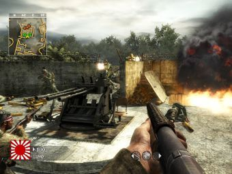 Карта Knee Deep для игры Call of Duty: World at War