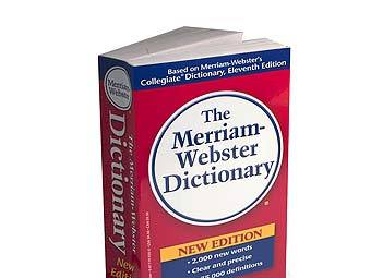 Экземпляр словаря Merriam-Webster. Фото с сайта amazon.com