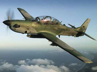 УБС EMB-314 Super Tucano. Фото с сайта aviation-news.co.uk