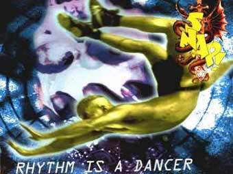 "Обложка сингла ""Rhythm is a Dancer"" группы Snap!"
