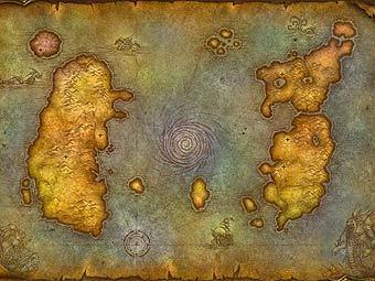 Карта мира WoW