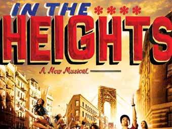 "Афиша мюзикла ""In the Heights"", лучшего в сезоне 2007/2008"