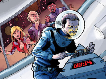 "Графика комикса ""Galaxy Quest: Global Warning"" IDW Publishing"