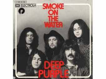 "Обложка сингла ""Smoke on the Water"" группы Deep Purple"