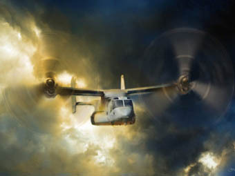 Конвертоплан V-22 Osprey. Иллюстрация с сайта soldiersperspective.us