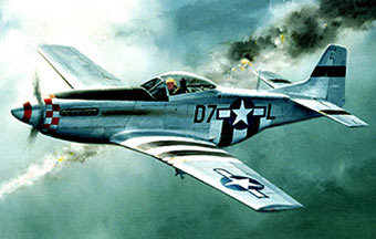 Mustang P-51, изображение Wikimedia Commons.