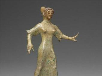 Этрусская статуэтка танцовщицы VI века до нашей эры . Фото с сайта mfa.org