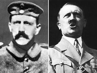 Адольф Гитлер во время службы в армии (фото с сайта virginia.edu) и после прихода к власти (фото с сайта hitler.org)