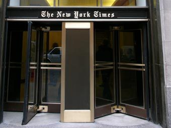 Вход в редакцию The New York Times. Фото с сайта wikimedia.org