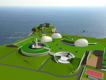Проект застройки острова Змеиный. Иллюстрация с сайта .florence-expo.com