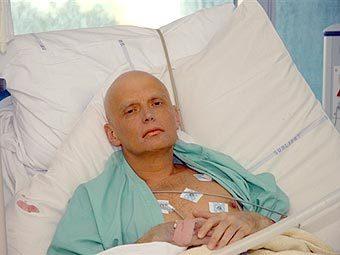 Александр Литвиненко после отравления. Фото AFP