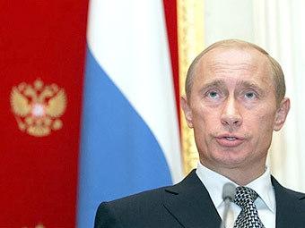 Владимир Путин на пресс-конференции в Кремле 18 октября. Фото AFP