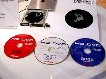 Диски формата HD-DVD от Toshiba. Фото с сайта hwupgrade.it