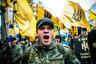 Ежегодно на праздновании дня образования УПА националисты требовали официального признания бандеровцев борцами за независимость Украины. Митинг в Киеве 14 октября 2007 года