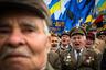 Ветераны УПА во время марша памяти по случаю празднования 65-летия Украинской повстанческой армии в Киеве 14 октября 2007 года