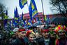 Митинг сторонников «Свободы», посвященный 70-й годовщине создания УПА, возле памятника Тарасу Шевченко в Киеве 14 октября 2012 года