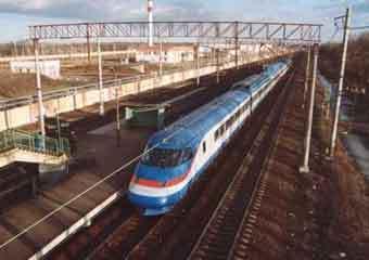 Скоростной поезд ''Сокол''. Фото с с сайта www.vsm.ru