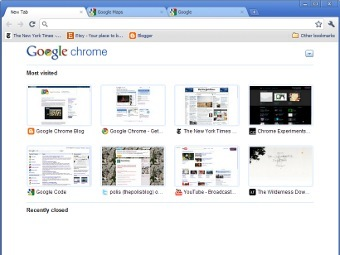 Скриншот Google Chrome 6.0