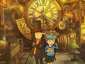 Арт к игре Professor Layton and the Lost Future