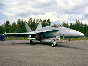 F-18C Hornet ВВС Финляндии. Фото с сайта cavok-aviation-photos.net