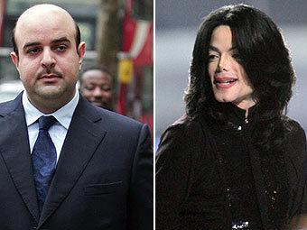 Шейх Абдулла бин Хамад бин Иса аль-Халифа и Майкл Джексон. Фотографии (c)AFP