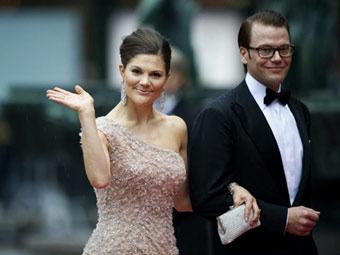 Принцесса Виктория и Даниэль Вестлинг. Фото (c)AFP