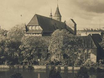Фрагмент старинной открытки с видом Калининграда (Кенигсберга). Изображение с сайта wikipedia.org