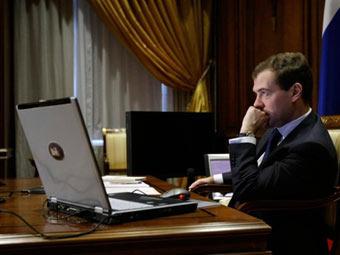 Президент.РФ Дмитрий Медведев. Фото пресс-службы президента России