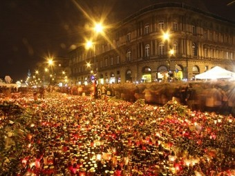 Площадь перед президентским дворцом в Варшаве. Фото (c)AFP