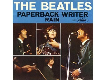 "Обложка сингла The Beatles ""Paperback Writer/Rain"""