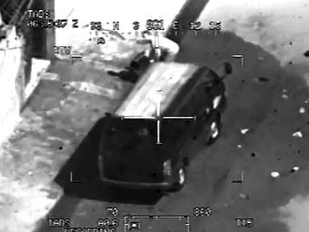 Кадр видеозаписи с сайта WikiLeaks
