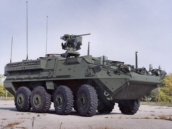 БТР M1126 Stryker. Фото с сайта defenseindustrydaily.com