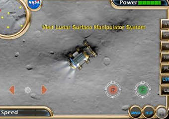 Скриншот игры Nasa Lunar Electric Rover Simulator