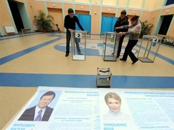 На избирательном участке в Киеве. Фото (c)AFP