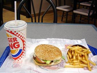 Обед Burger King. Фото Siqbal