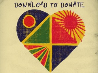 "Символика кампании ""Download To Donate For Haiti"""