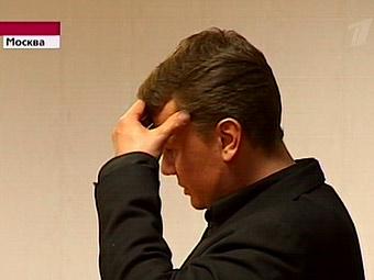 """Владислав Галкин в зале суда. Кадр """"Первого канала"""""""
