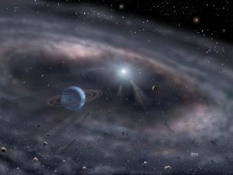 Формирование планет глазами художника. Иллюстрация David A. Hardy/www.astroart.org