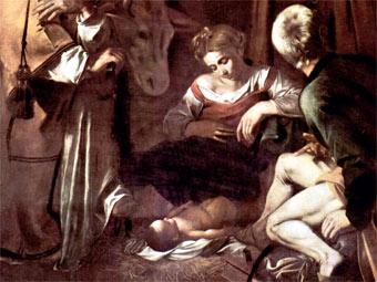 """""""Рождество со святым Франциском и святым Лаврентием"""", фрагмент"""