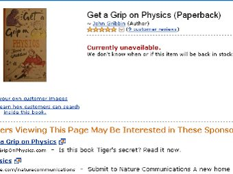 "Книга ""Get a Grip on Physics"" на Amazon.com"