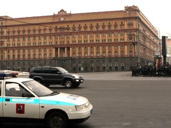 """Вид на здание ФСБ РФ. Фото """"Ленты.Ру"""""""