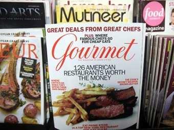 Журналы ИД Conde Nast в киоске в Нью-Йорке. Фото (c)AFP