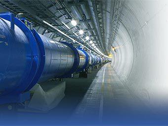 Туннель ускорителя БАК. Фото CERN