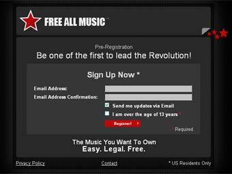 Скриншот сайта FreeAllMusic.com