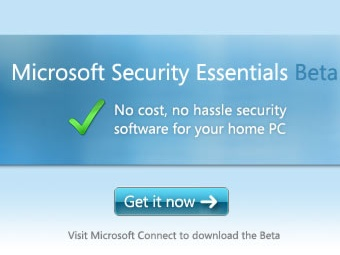 Скриншот сайта Microsoft Security Essentials Beta