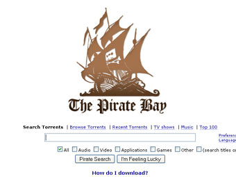 Скриншот The Pirate Bay