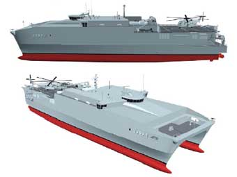 Joint High Speed Vessel. Изображение Austal .